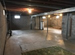 The basement is dry and has the hookups for a washer and a dryer.