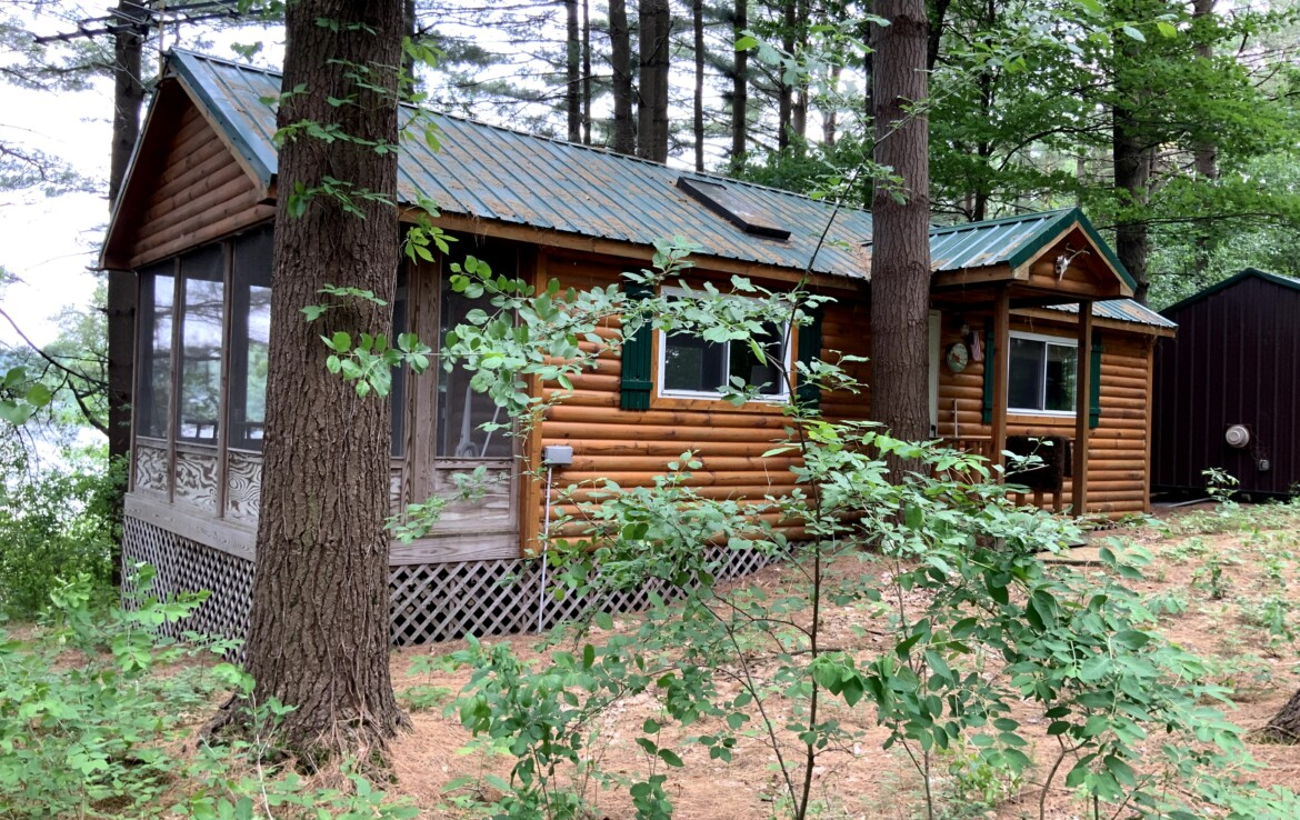 ​3.4 acres for Sale With Unique Lake Front Year Round Cabins on Leland Pond!